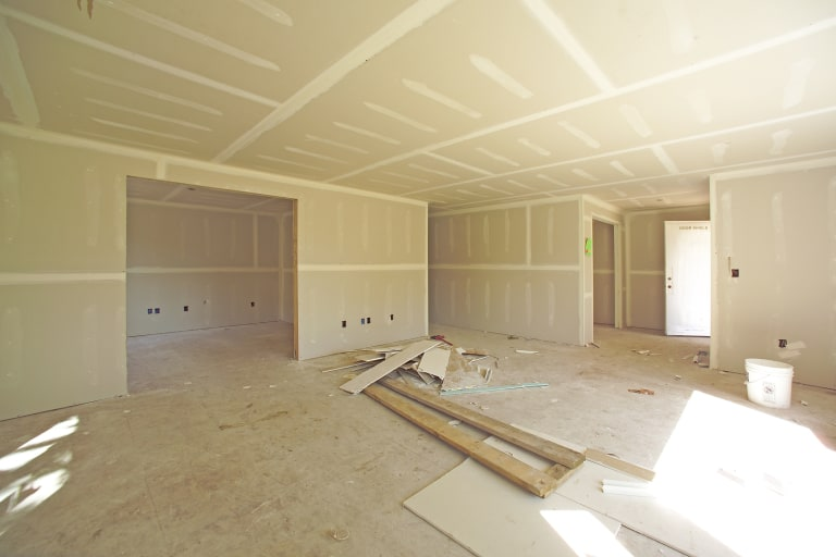 Living And Extra Room Drywall